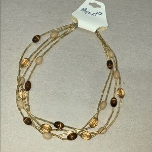 NWT Monet2  multi strand beaded necklace